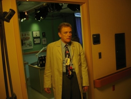 "William Atherton on the set of ""Headspace"""