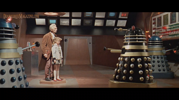 Peter Cushing and Roberta Tovey in Dr. Who and the Daleks (1965)
