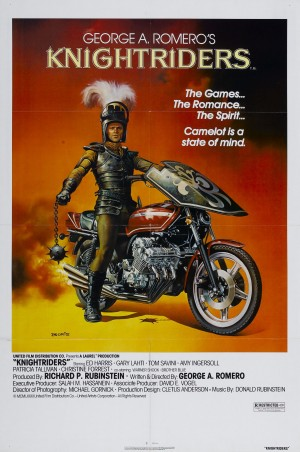 On-sheet poster for George Romero's Knightriders (1981)