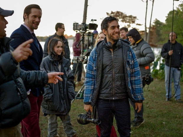 """The East"" director Zal Batmanglij, on-set with Ellen Page and Alexander Skarsgaard"