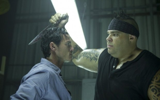 Luke Evans and Brodus Clay in NO ONE LIVES