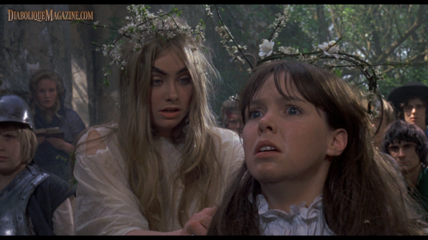 Linda Hayden and Wendy Padbury in The Blood on Satan's Claw (1971)