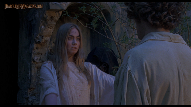 Linda Hayden and Barry Andrews in The Blood on Satan's Claw (1971)