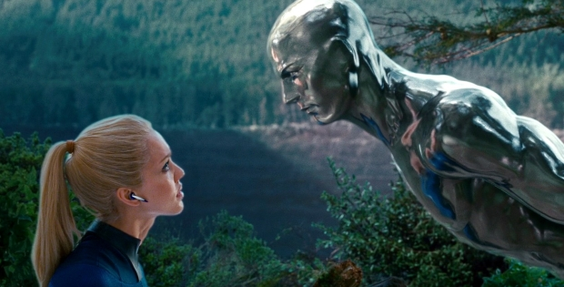 """Jessica Alba and Doug Jones in """"Fantasic Four: Rise of the Silver Surfer"""""""