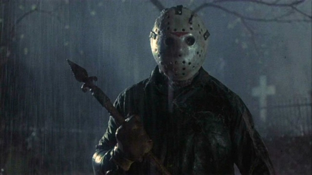 "Jason Vorhees in ""Friday the 13th, Part Six: Jason Lives"""