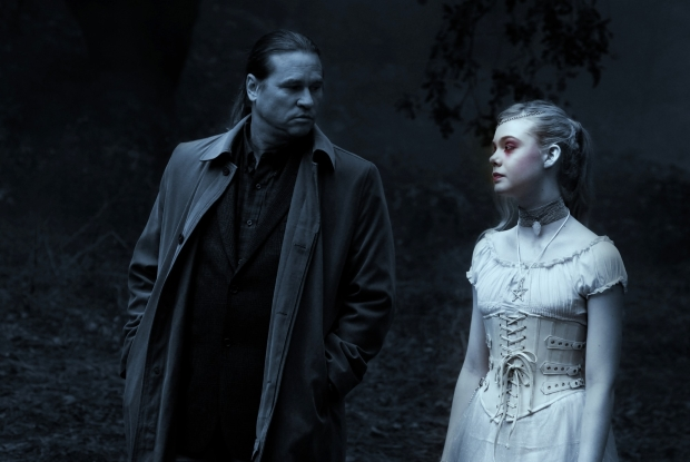 "Val Kilmer and Elle Fanning in ""Twixt"""