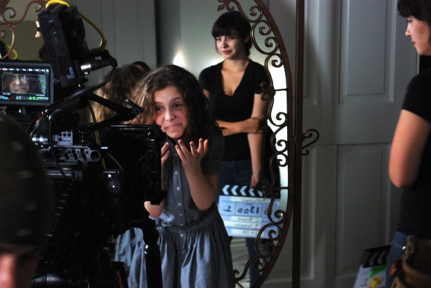 "Biana D'Ambrosio on the set of ""Reflections"""