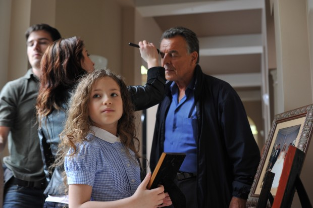 "Chiara D'Ambrosio and Ray Wise on the set of ""Reflections"""
