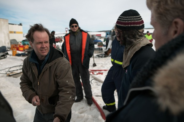 """Fessenden on the set of """"The Last Winter"""""""