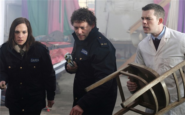 """Ruth Bradley, Richard Coyne and Russell Tovey in """"Grabbers"""""""