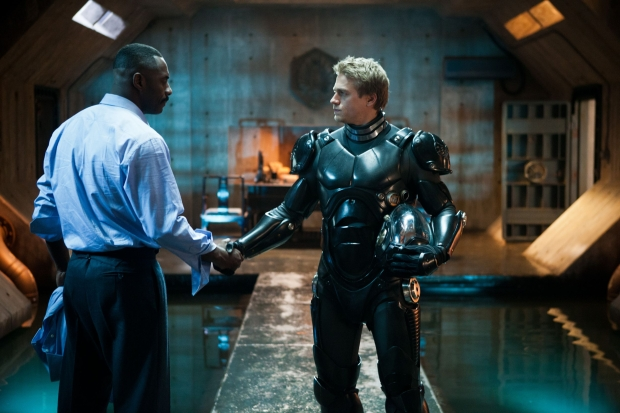 "Idris Elba and Charlie Hunnam in ""Pacific Rim"""