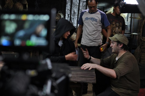 "Gareth Evans on the set of ""Berandal"""