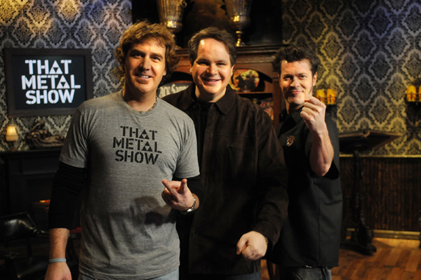 "Jim Florentine, Eddie Trunk and Don Jamieson of ""That Metal Show"""