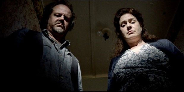 """Sean Young with Larry Fessenden in """"Jug Face"""""""