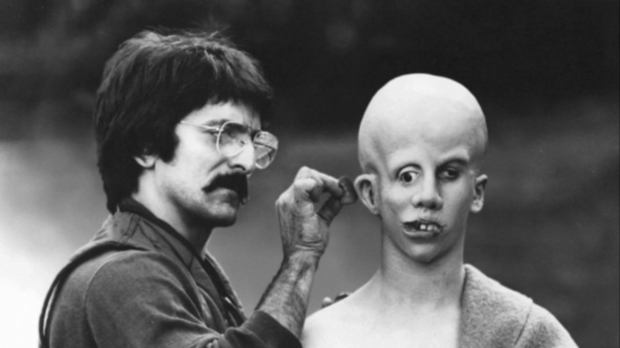 "Tom Savini on the set of ""Friday the 13th"""