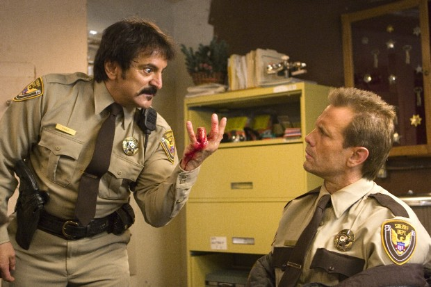 "Tom Savini and Michael Biehn in ""Planet Terror"""