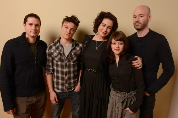 Andrew van den Houten (far left) with Chad Crawford Kinkle (far right), Daniel Manche, Sean Young and Lauren Ashley Carter