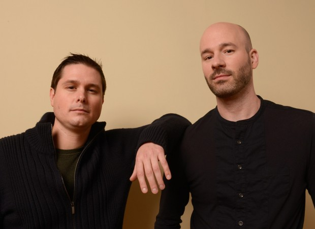 """Producer Andrew van den Houten (L.) with """"Jug Face"""" director Chad Crawford Kinkle"""