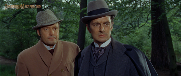 Francis Matthews and Charles Tingwell in Dracula: Prince of Darkness (1966)