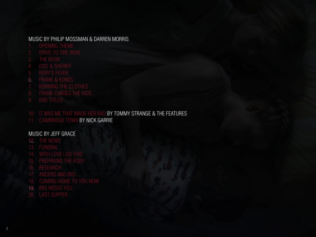 """""""We Are What We Are"""" Soundtrack Track Listing"""