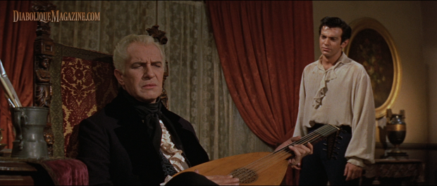 Vincent Price and Mark Damon in Roger Corman's The Fall of the House of Usher (1960)