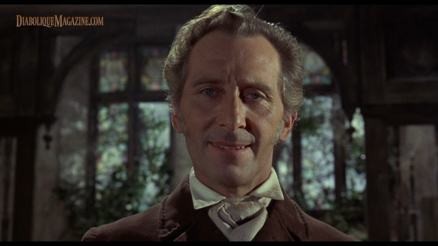 Peter Cushing in Hammer's The Evil of Frankenstein (1964) [Click to enlarge]