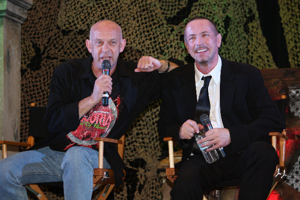 Doug Bradley and Clive Barker.