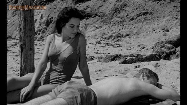 Linda Lawson in Night Tide (1961) [Click to enlarge]