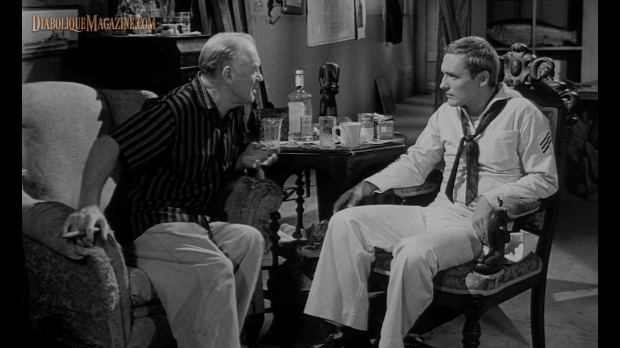 Dennis Hopper and Gavin Muir in Night Tide (1961) [Click to enlarge]