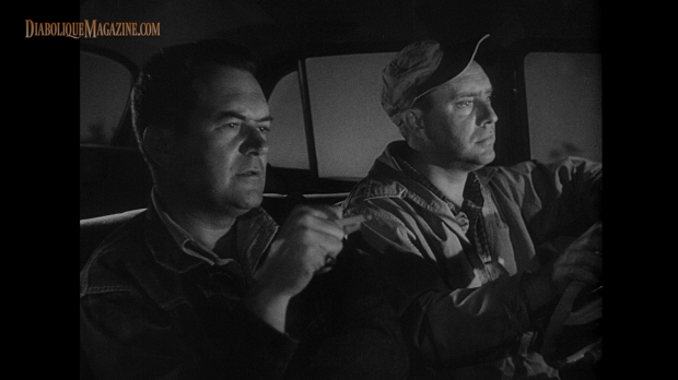 Edmond O'Brien and Frank Lovejoy in Ida Lupino's The Hitch-Hiker (1953) [Click to enlarge]