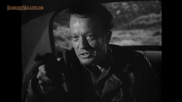 William Talman in Ida Lupino's The Hitch-Hiker (1953) [Click to enlarge]