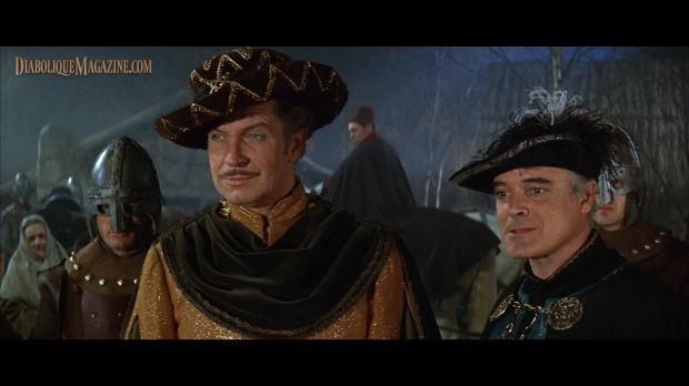 Vincent Price and Patrick Magee in The Masque of the Red Death (1964) [Click to enlarge]