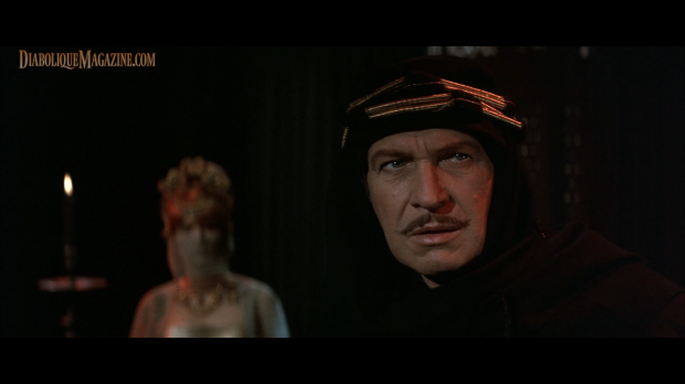 Vincent Price and Jane Asher in The Masque of the Red Death (1964) [Click to enlarge]