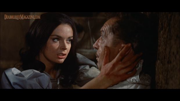 Vincent Price and Barbara Steele in The Pit and the Pendulum (1961) [Click to enlarge]