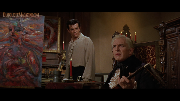 Vincent Price and Mark Damon in House of Usher (1960) [Click to enlarge]