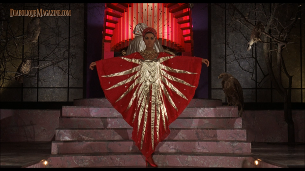 Virginia North in The Abominable Dr. Phibes (1971) [Click to enlarge]