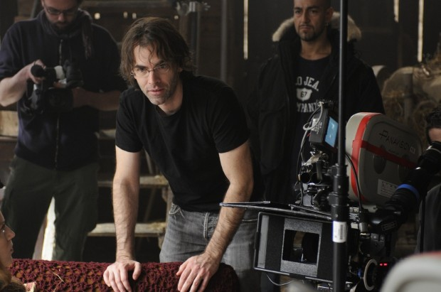 "Vincenzo Natali on the set of ""Splice""."