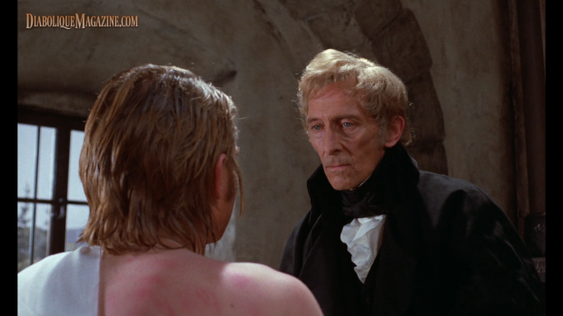 Peter Cushing in Frankenstein and the Monster from Hell (1973) [Click to enlarge]