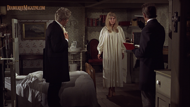 Peter Cushing, Susan Denberg, and Thorley Walters in Frankenstein Created Woman (1967) [Click to enlarge]