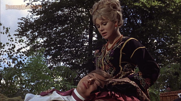 Susan Denberg and Derek Fowlds in Frankenstein Created Woman (1967) [Click to enlarge]