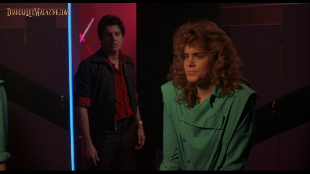Catherine Mary Stewart and Robert Beltran in Night of the Comet (1984)