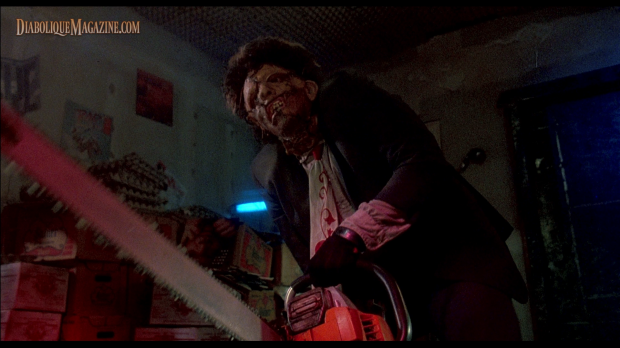 Bill Johnson in The Texas Chainsaw Massacre 2 (1986) [Click to enlarge]