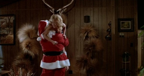 Silent Night, Deadly Night: Santa impales Linnea Quigley