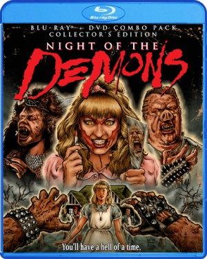 Blu-ray cover of Night of the Demons