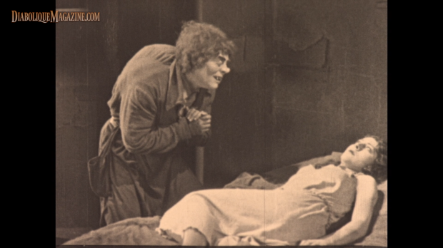Lon Chaney and Patsy Ruth Miller in The Hunchback of Notre Dame (1923) [Click to enlarge]