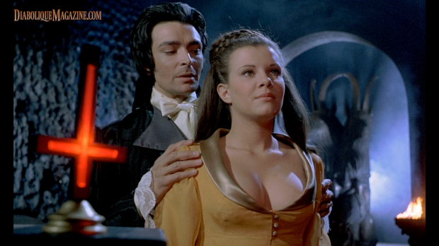 Damien Thomas and Madeleine Collinson in Twins of Evil (1971) [Click to enlarge]