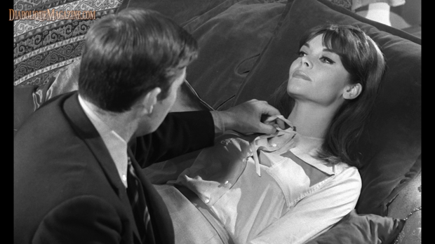 Françoise Brion and  Jacques Doniol-Valcroze in L'Immortelle (1963)