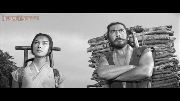 Toshirô Mifune and Misa Uehara in The Hidden Fortress (1958) [Click to enlarge]