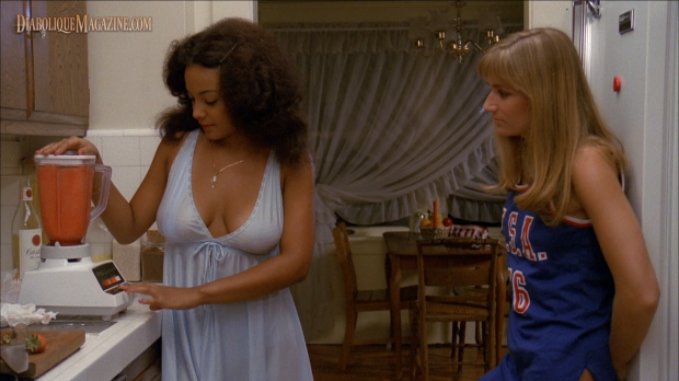 Andree Honore (left) and Debra De Liso (right) in The Slumber Party Massacre (1982) [click to enlarge]