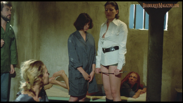Lina Romay and Monica Swinn in Barbed Wire Dolls (a.k.a. Frauengefängnis - 1976) [Click to enlarge]